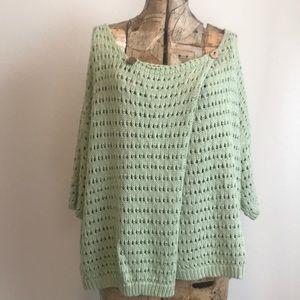 Listicle Drape Loose Knit Sweater